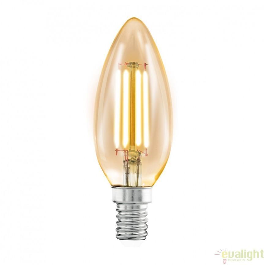 Bec E14-LED-C35 4W 220lm 2200k 11557 EL, BECURI ILUMINAT, Corpuri de iluminat, lustre, aplice, veioze, lampadare, plafoniere. Mobilier si decoratiuni, oglinzi, scaune, fotolii. Oferte speciale iluminat interior si exterior. Livram in toata tara.  a