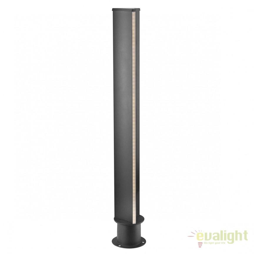 Stalp LED iluminat exterior design modern IP54 TITUS 84068003 DFTP, Stalpi de iluminat exterior mici si medii , Corpuri de iluminat, lustre, aplice, veioze, lampadare, plafoniere. Mobilier si decoratiuni, oglinzi, scaune, fotolii. Oferte speciale iluminat interior si exterior. Livram in toata tara.  a