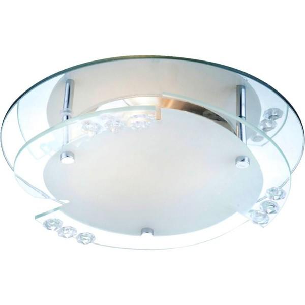 Aplica cu cristale acrylice diam. 25cm Armena 48073 GL, Aplice de perete simple, Corpuri de iluminat, lustre, aplice, veioze, lampadare, plafoniere. Mobilier si decoratiuni, oglinzi, scaune, fotolii. Oferte speciale iluminat interior si exterior. Livram in toata tara.  a