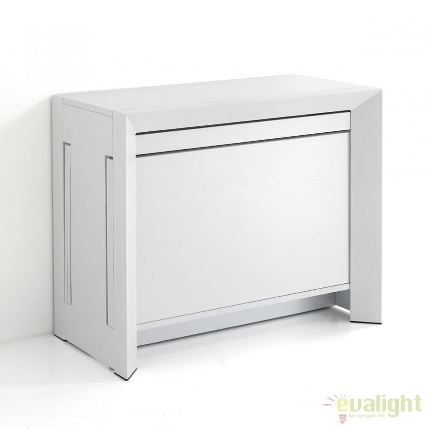 Consola/ masa extensibila de 10-12 locuri din panouri ecologice din lemn DIONY WHITE 2750 FTP, Console - Birouri, Corpuri de iluminat, lustre, aplice, veioze, lampadare, plafoniere. Mobilier si decoratiuni, oglinzi, scaune, fotolii. Oferte speciale iluminat interior si exterior. Livram in toata tara.  a