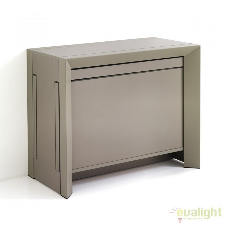 Consola/ masa extensibila de 10-12 locuri din panouri ecologice din lemn DIONY TAUPE 2751 FTP, Console - Birouri, Corpuri de iluminat, lustre, aplice, veioze, lampadare, plafoniere. Mobilier si decoratiuni, oglinzi, scaune, fotolii. Oferte speciale iluminat interior si exterior. Livram in toata tara.  a