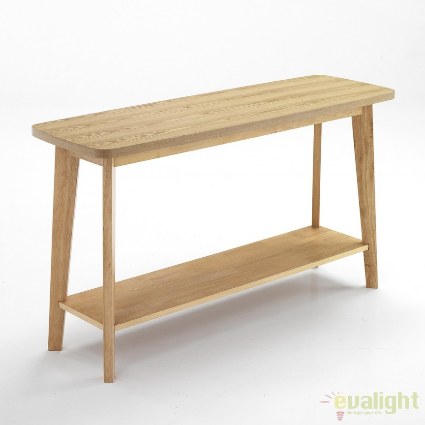 Consola design rustic din lemn masiv de stejar KYRA 2767 FTP, Console - Birouri, Corpuri de iluminat, lustre, aplice, veioze, lampadare, plafoniere. Mobilier si decoratiuni, oglinzi, scaune, fotolii. Oferte speciale iluminat interior si exterior. Livram in toata tara.  a
