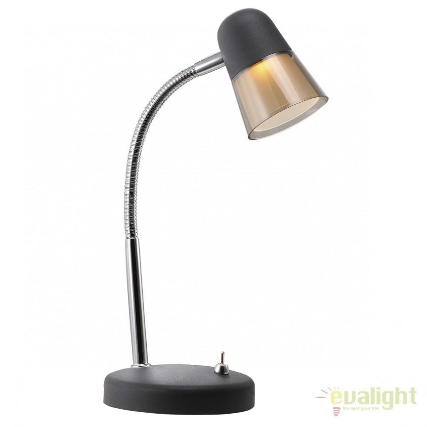 Veioza, lampa de masa LED Arles neagra 63265003 DFTP, Veioze LED, Lampadare LED, Corpuri de iluminat, lustre, aplice, veioze, lampadare, plafoniere. Mobilier si decoratiuni, oglinzi, scaune, fotolii. Oferte speciale iluminat interior si exterior. Livram in toata tara.  a