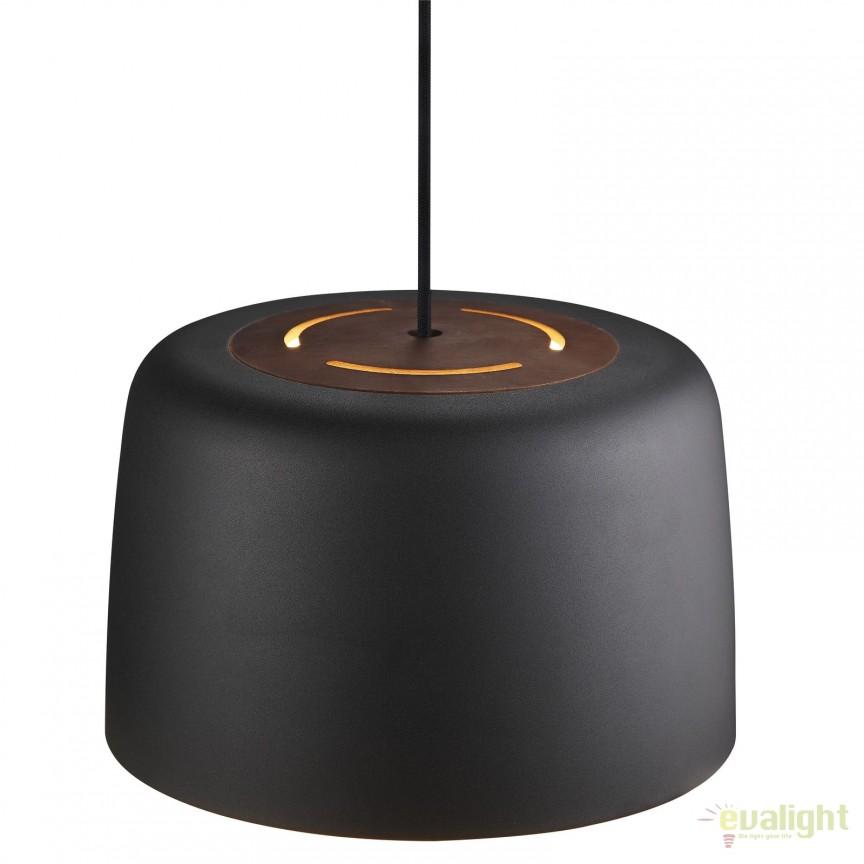 Pendul design modern VISION negru 78243003 DFTP, Pendule, Lustre suspendate, Corpuri de iluminat, lustre, aplice, veioze, lampadare, plafoniere. Mobilier si decoratiuni, oglinzi, scaune, fotolii. Oferte speciale iluminat interior si exterior. Livram in toata tara.  a
