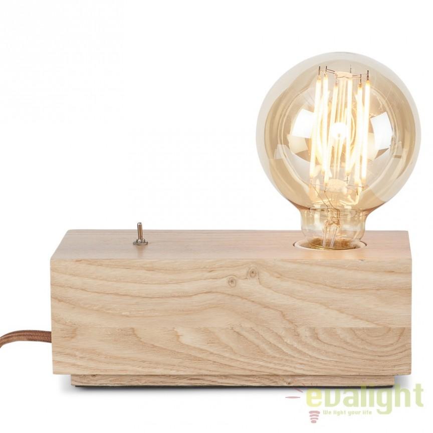 Lampa de masa din lemn de frasin, KOBE/TH 20x10cm, Veioze, Lampi de masa, Corpuri de iluminat, lustre, aplice, veioze, lampadare, plafoniere. Mobilier si decoratiuni, oglinzi, scaune, fotolii. Oferte speciale iluminat interior si exterior. Livram in toata tara.  a