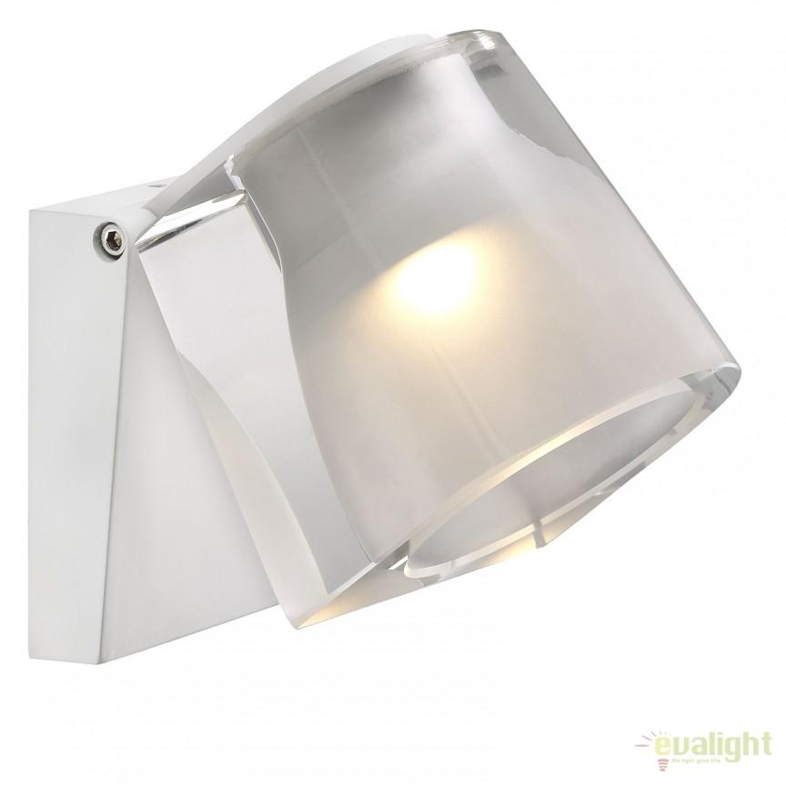 Aplica LED de perete pentru baie IP44 IP S12 alba 83051001 DFTP, Aplice pentru baie, oglinda, tablou, Corpuri de iluminat, lustre, aplice, veioze, lampadare, plafoniere. Mobilier si decoratiuni, oglinzi, scaune, fotolii. Oferte speciale iluminat interior si exterior. Livram in toata tara.  a