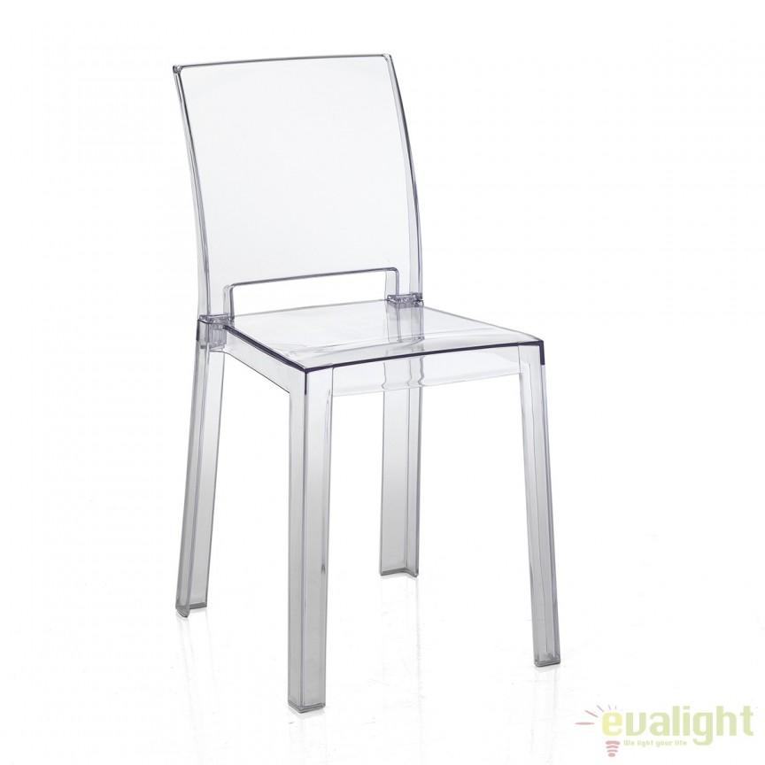 Set 2 scaune din policarbonat design elegant IN&OUT MIA 2960 FTP, Mobilier terasa si gradina, Corpuri de iluminat, lustre, aplice, veioze, lampadare, plafoniere. Mobilier si decoratiuni, oglinzi, scaune, fotolii. Oferte speciale iluminat interior si exterior. Livram in toata tara.  a