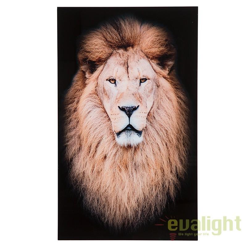 Tablou decorativ imagine imprimata pe sticla, Mufasa 100x60cm Lowe A-37408 VC,  a