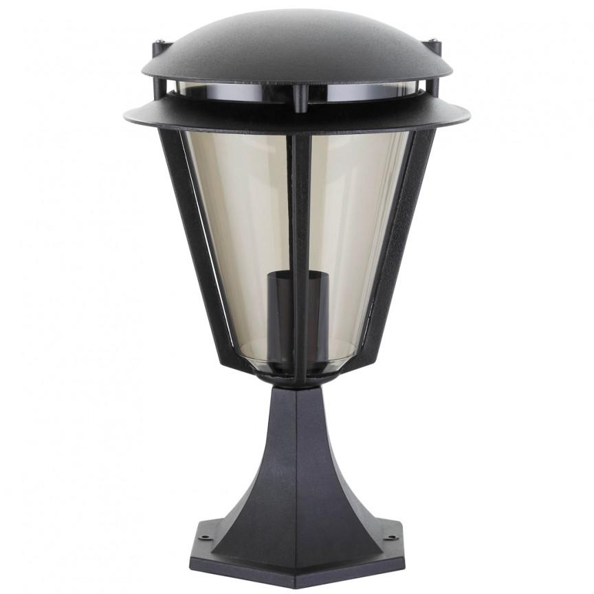 Stalp exterior H-39,8cm, IP44, negru Stockholm 8427 RX, Promotii si Reduceri⭐ Oferte ✅Corpuri de iluminat ✅Lustre ✅Mobila ✅Decoratiuni de interior si exterior.⭕Pret redus online➜Lichidari de stoc❗ Magazin ➽ www.evalight.ro. a