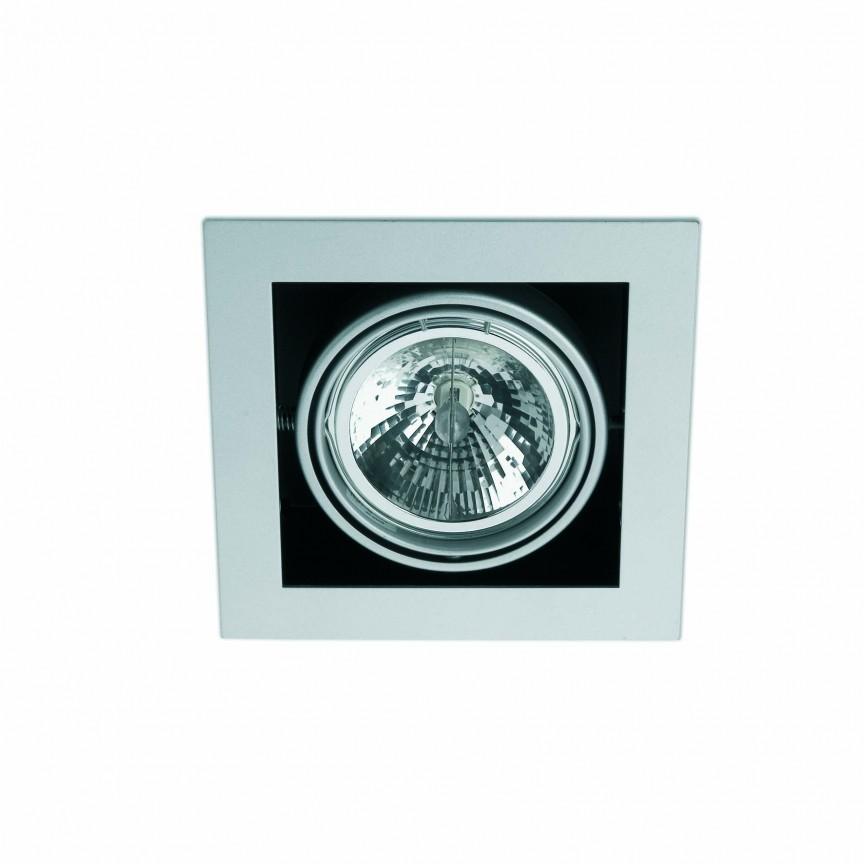 Spot incastrabil HELIO-1 gri 43326, Spoturi incastrate, aplicate - tavan / perete, Corpuri de iluminat, lustre, aplice, veioze, lampadare, plafoniere. Mobilier si decoratiuni, oglinzi, scaune, fotolii. Oferte speciale iluminat interior si exterior. Livram in toata tara.  a