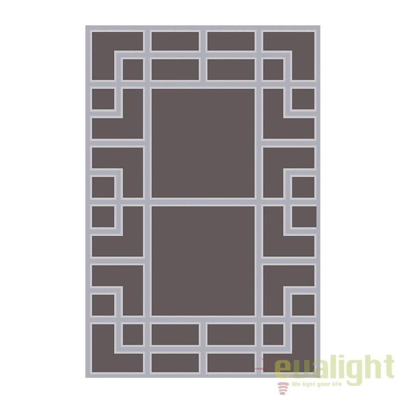 Covor elegant design LUX, model geometric, Burban 200x300cm 108518 HZ, Covoare design decorativ modern pentru interior, exterior , Corpuri de iluminat, lustre, aplice, veioze, lampadare, plafoniere. Mobilier si decoratiuni, oglinzi, scaune, fotolii. Oferte speciale iluminat interior si exterior. Livram in toata tara.  a