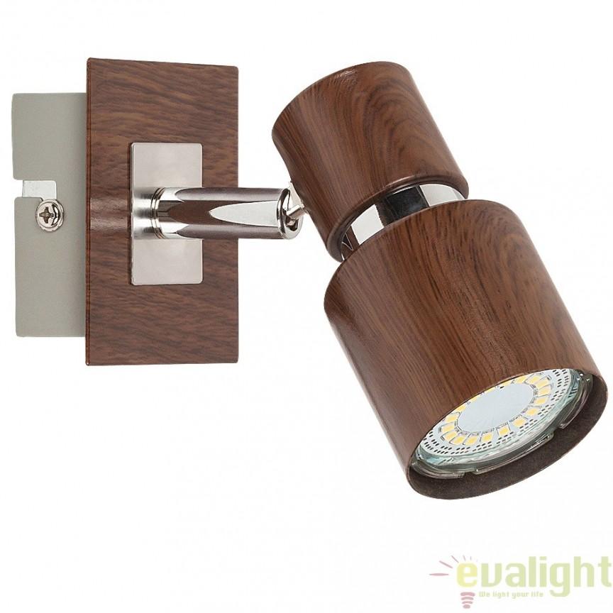 Aplica de perete, finisaj wenge, Merkur 6005 RX, Spoturi - iluminat - cu 1 spot, Corpuri de iluminat, lustre, aplice, veioze, lampadare, plafoniere. Mobilier si decoratiuni, oglinzi, scaune, fotolii. Oferte speciale iluminat interior si exterior. Livram in toata tara.  a