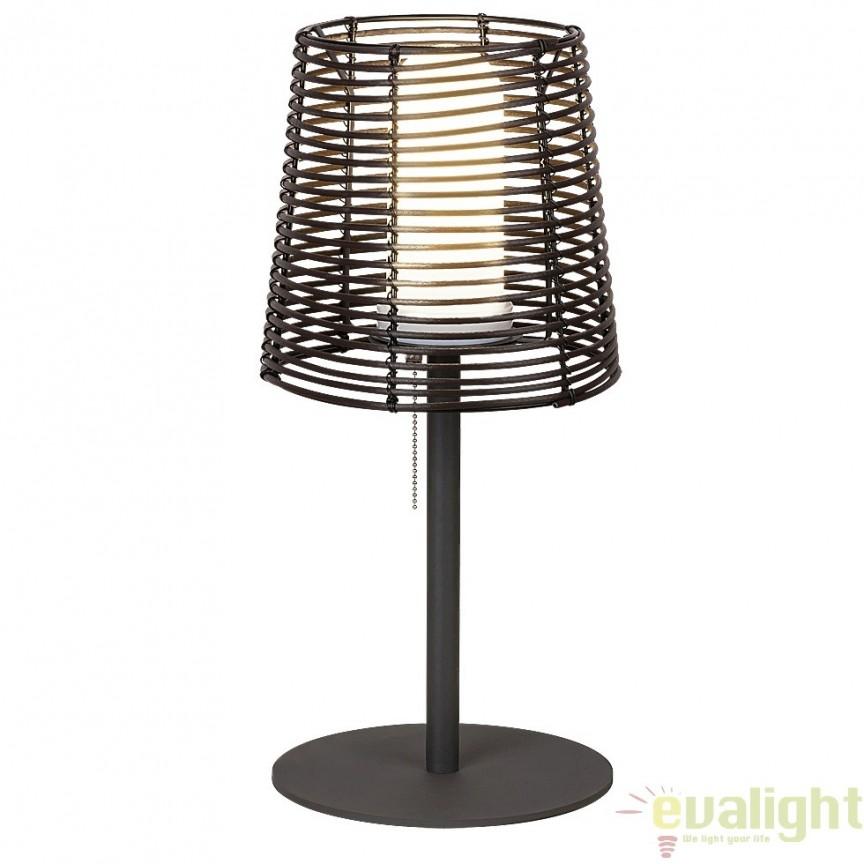 Lampa de exterior, finisaj negru/maro, diametru 25cm, IP44 Knoxville 8649 RX, Lampi de exterior portabile , Corpuri de iluminat, lustre, aplice, veioze, lampadare, plafoniere. Mobilier si decoratiuni, oglinzi, scaune, fotolii. Oferte speciale iluminat interior si exterior. Livram in toata tara.  a