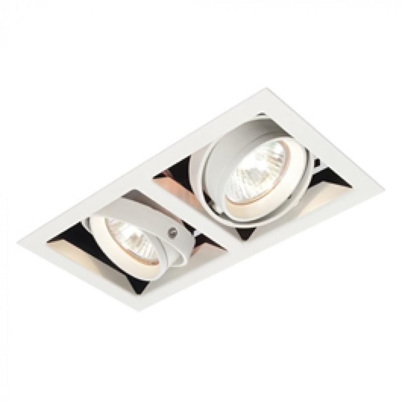 Plafoniera incastrabila cu 2 spoturi orientabile Twin Box MR16 MR00202 EN, Spoturi incastrate, aplicate - tavan / perete, Corpuri de iluminat, lustre, aplice, veioze, lampadare, plafoniere. Mobilier si decoratiuni, oglinzi, scaune, fotolii. Oferte speciale iluminat interior si exterior. Livram in toata tara.  a
