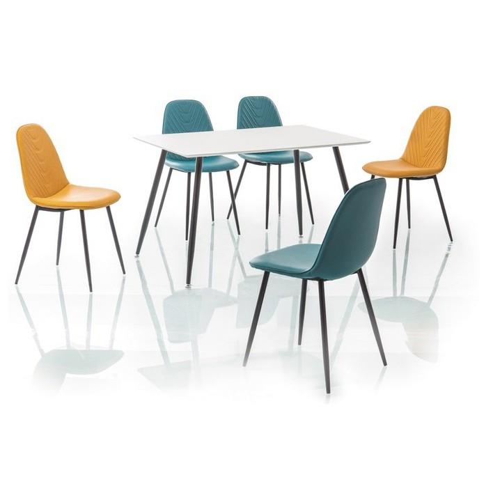 Masa design modern FLORO 120x80 alb/ negru FLOROBC120 SM, Mese dining, Corpuri de iluminat, lustre, aplice, veioze, lampadare, plafoniere. Mobilier si decoratiuni, oglinzi, scaune, fotolii. Oferte speciale iluminat interior si exterior. Livram in toata tara.  a