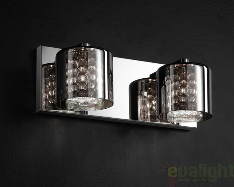 Aplica de perete moderna dubla, Denise 494856, Aplice de perete moderne, Corpuri de iluminat, lustre, aplice a