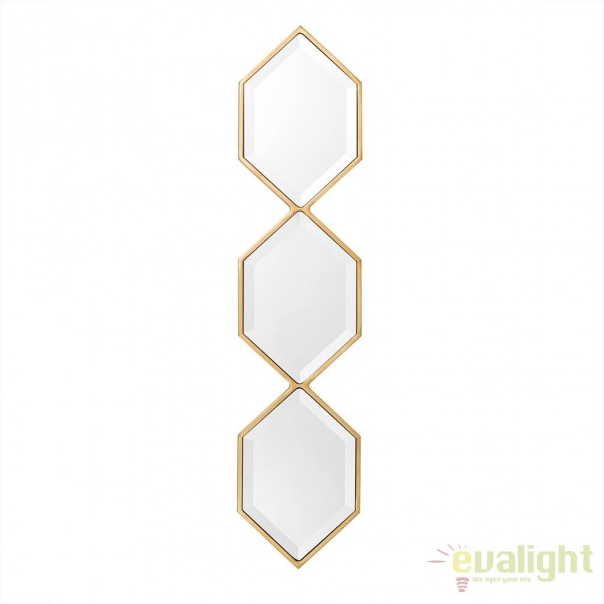 Oglinda decorativa eleganta design modern Saronno auriu 111075 HZ, Oglinzi decorative, Corpuri de iluminat, lustre, aplice, veioze, lampadare, plafoniere. Mobilier si decoratiuni, oglinzi, scaune, fotolii. Oferte speciale iluminat interior si exterior. Livram in toata tara.  a