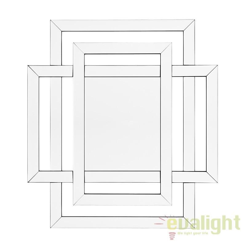 Oglinda decorativa eleganta, 100x110cm Mortimer 108724 HZ, Oglinzi decorative, Corpuri de iluminat, lustre, aplice, veioze, lampadare, plafoniere. Mobilier si decoratiuni, oglinzi, scaune, fotolii. Oferte speciale iluminat interior si exterior. Livram in toata tara.  a