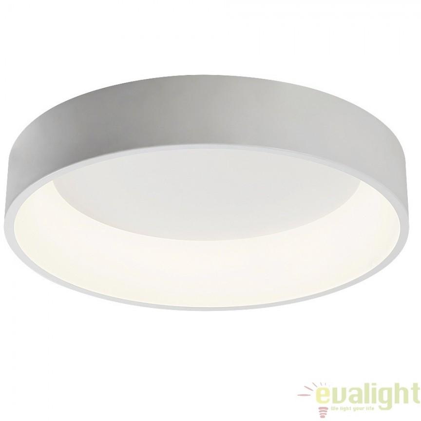Plafoniera LED design modern, finisaj alb mat, diametru 60cm, Adeline 2508 RX, Plafoniere LED, Spoturi LED, Corpuri de iluminat, lustre, aplice, veioze, lampadare, plafoniere. Mobilier si decoratiuni, oglinzi, scaune, fotolii. Oferte speciale iluminat interior si exterior. Livram in toata tara.  a