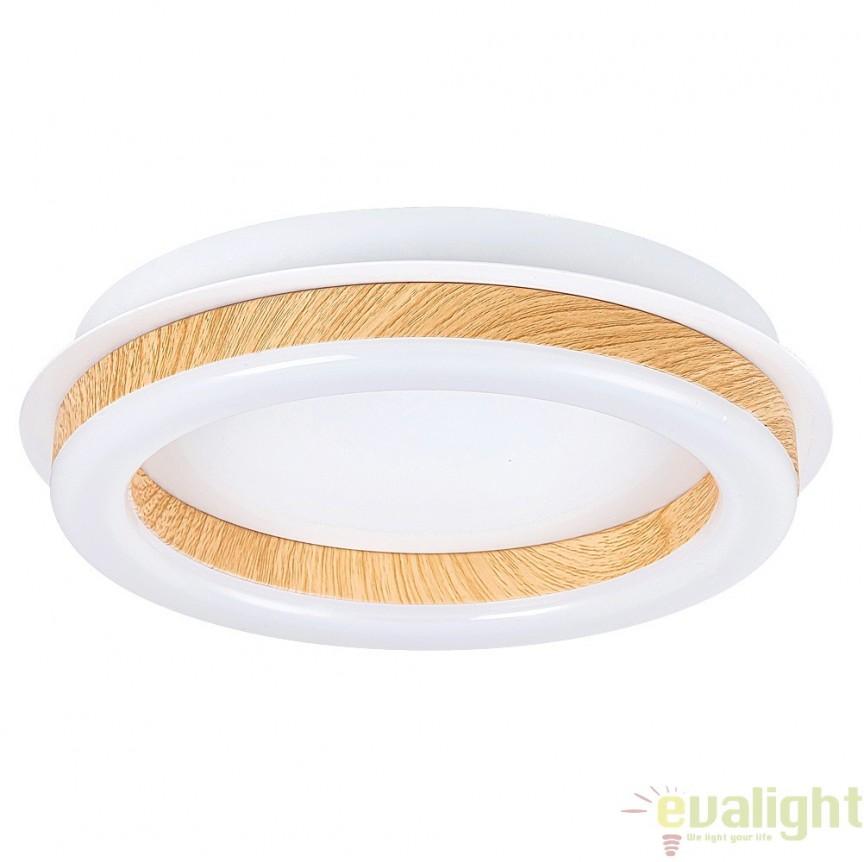 Plafoniera LED design modern, finisaj alb mat, diametru 26,5cm, Audrey 2625 RX, Plafoniere LED, Spoturi LED, Corpuri de iluminat, lustre, aplice, veioze, lampadare, plafoniere. Mobilier si decoratiuni, oglinzi, scaune, fotolii. Oferte speciale iluminat interior si exterior. Livram in toata tara.  a
