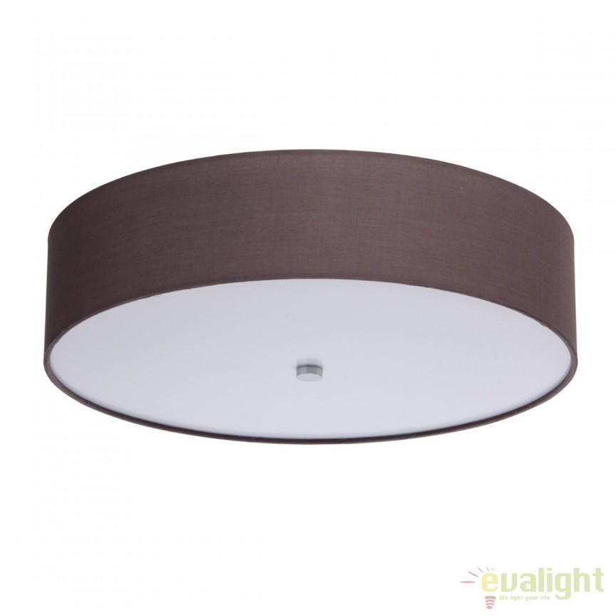 Plafoniera LED design modern diam.50cm Delphy brun 453011301 MW, Plafoniere LED, Spoturi LED, Corpuri de iluminat, lustre, aplice, veioze, lampadare, plafoniere. Mobilier si decoratiuni, oglinzi, scaune, fotolii. Oferte speciale iluminat interior si exterior. Livram in toata tara.  a