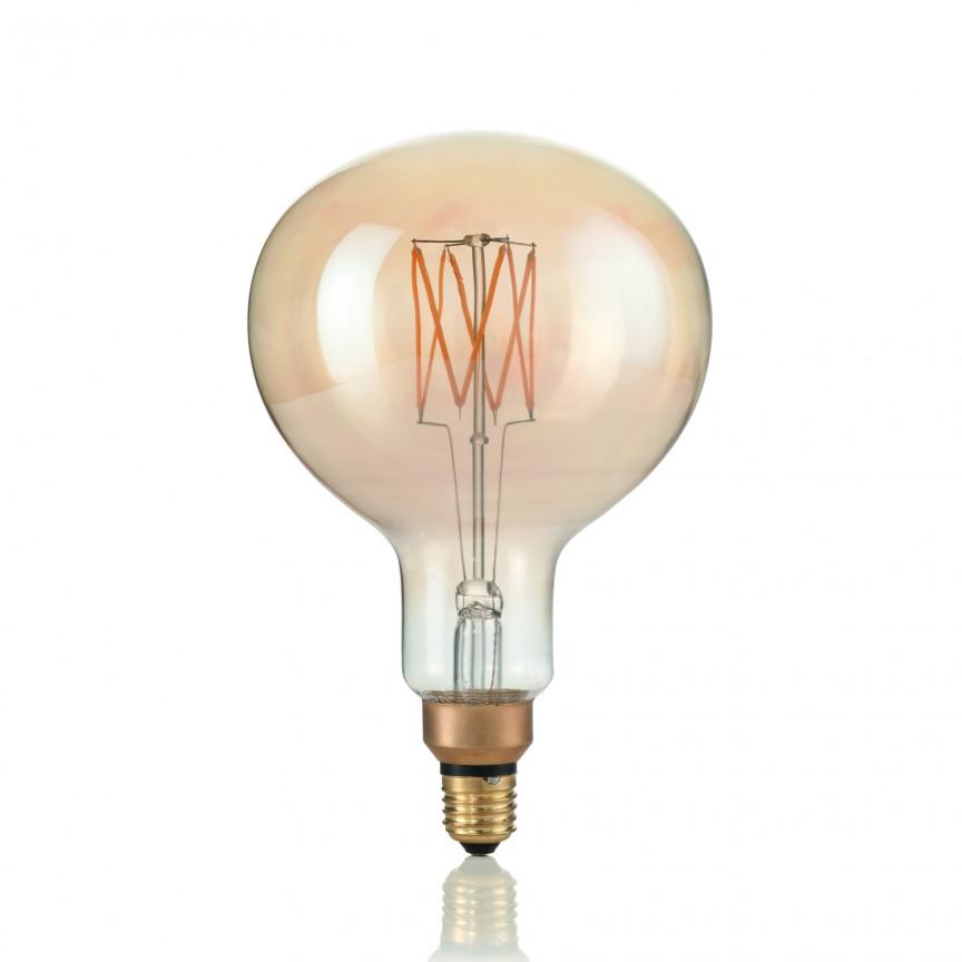 Bec de dimensiuni mari, cu filament LED VINTAGE XL E27 4W GLOBO SMALL 129877, Becuri E27, Corpuri de iluminat, lustre, aplice, veioze, lampadare, plafoniere. Mobilier si decoratiuni, oglinzi, scaune, fotolii. Oferte speciale iluminat interior si exterior. Livram in toata tara.  a
