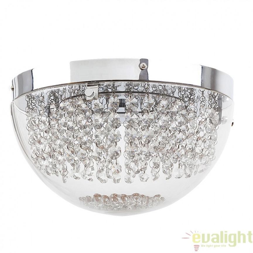 Plafoniera LED cu cristale din sticla, diametru 30cm, Nyssa 2505 RX, Plafoniere LED, Spoturi LED, Corpuri de iluminat, lustre, aplice, veioze, lampadare, plafoniere. Mobilier si decoratiuni, oglinzi, scaune, fotolii. Oferte speciale iluminat interior si exterior. Livram in toata tara.  a