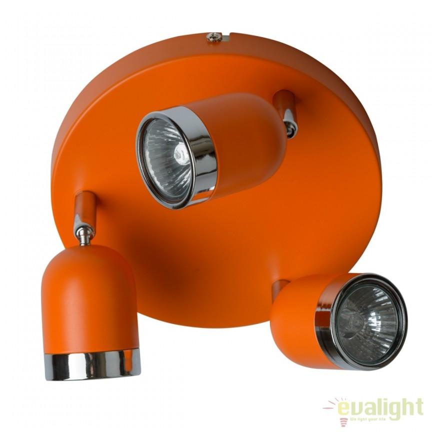 Plafoniera moderna cu 3 spoturi directionabile Orion 546021103 MW, Spoturi - iluminat - cu 3 spoturi, Corpuri de iluminat, lustre, aplice, veioze, lampadare, plafoniere. Mobilier si decoratiuni, oglinzi, scaune, fotolii. Oferte speciale iluminat interior si exterior. Livram in toata tara.  a