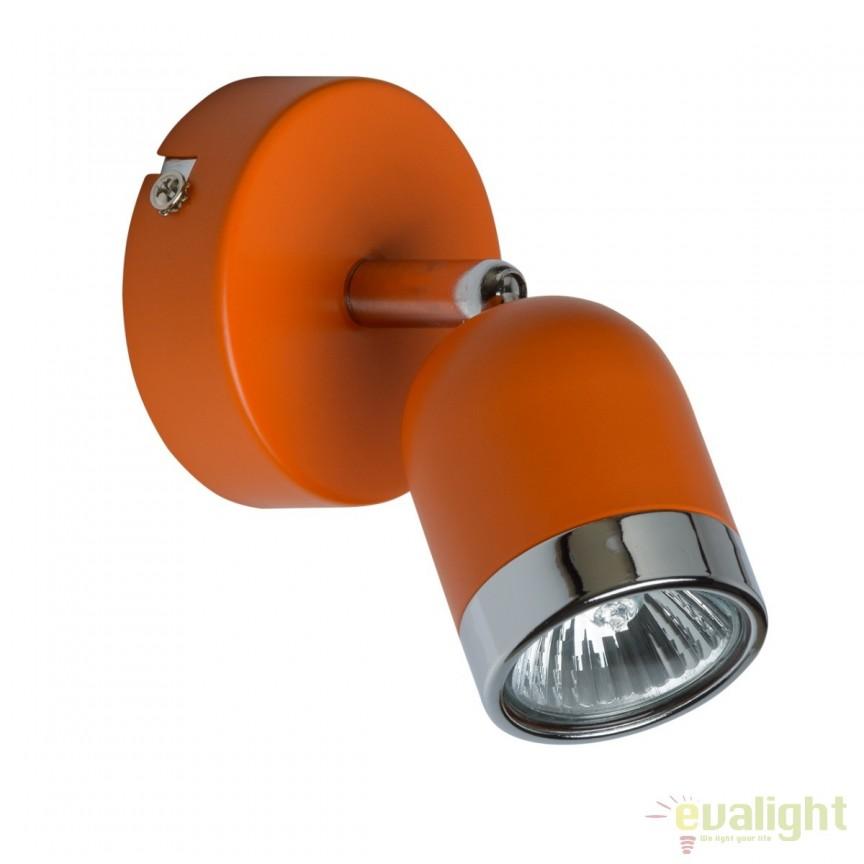 Aplica de perete cu 1 spot directionabil Orion 546020901 MW, Spoturi - iluminat - cu 1 spot, Corpuri de iluminat, lustre, aplice, veioze, lampadare, plafoniere. Mobilier si decoratiuni, oglinzi, scaune, fotolii. Oferte speciale iluminat interior si exterior. Livram in toata tara.  a
