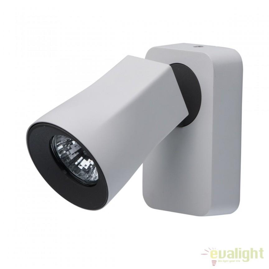 Aplica de perete cu 1 spot directionabil Astor 545021001 MW, Spoturi - iluminat - cu 1 spot, Corpuri de iluminat, lustre, aplice, veioze, lampadare, plafoniere. Mobilier si decoratiuni, oglinzi, scaune, fotolii. Oferte speciale iluminat interior si exterior. Livram in toata tara.  a