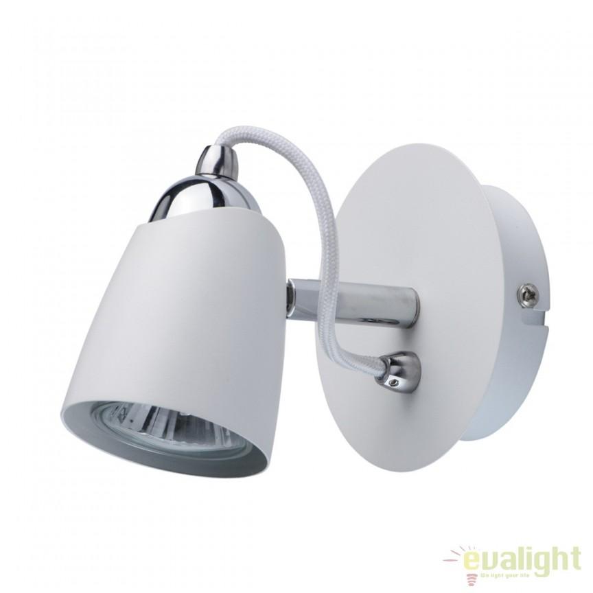 Aplica de perete cu 1 spot directionabil Dany 545021301 MW, Spoturi - iluminat - cu 1 spot, Corpuri de iluminat, lustre, aplice, veioze, lampadare, plafoniere. Mobilier si decoratiuni, oglinzi, scaune, fotolii. Oferte speciale iluminat interior si exterior. Livram in toata tara.  a