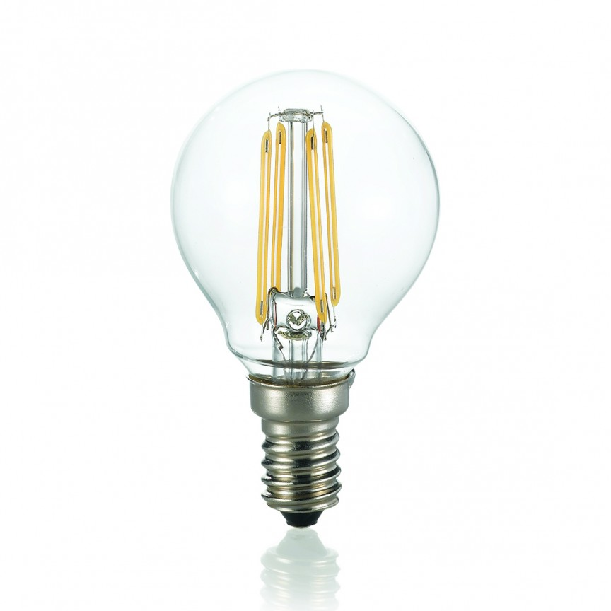 Bec LED E14 4W SFERA TRASPARENTE 4000K 153926, Becuri E14, Corpuri de iluminat, lustre, aplice, veioze, lampadare, plafoniere. Mobilier si decoratiuni, oglinzi, scaune, fotolii. Oferte speciale iluminat interior si exterior. Livram in toata tara.  a