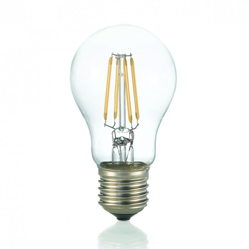 Bec LED E27 8W 4000K GOCCIA TRASPARENTE 153964, Becuri E27, Corpuri de iluminat, lustre, aplice, veioze, lampadare, plafoniere. Mobilier si decoratiuni, oglinzi, scaune, fotolii. Oferte speciale iluminat interior si exterior. Livram in toata tara.  a