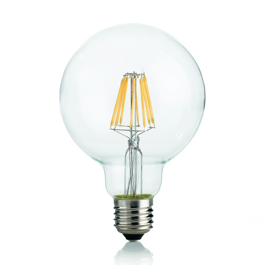 Bec LED E27 8W GLOBO D125 TRASPARENTE 4000K 153988, Becuri E27, Corpuri de iluminat, lustre, aplice, veioze, lampadare, plafoniere. Mobilier si decoratiuni, oglinzi, scaune, fotolii. Oferte speciale iluminat interior si exterior. Livram in toata tara.  a