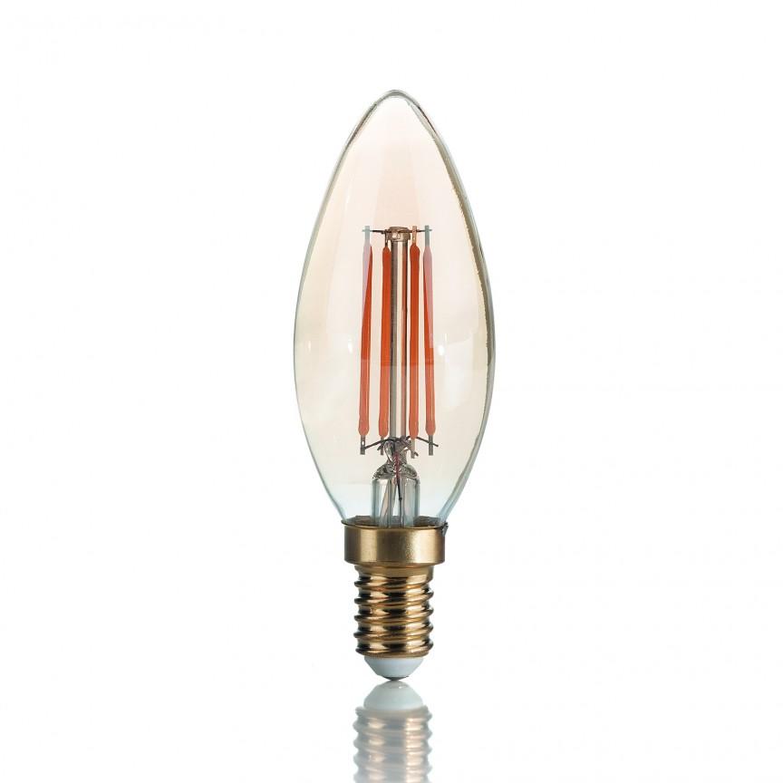 Bec LED VINTAGE E14 3.5W OLIVA 151649, Becuri E14, Corpuri de iluminat, lustre, aplice, veioze, lampadare, plafoniere. Mobilier si decoratiuni, oglinzi, scaune, fotolii. Oferte speciale iluminat interior si exterior. Livram in toata tara.  a