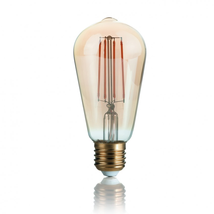 Bec LED VINTAGE E27 4W CONO 151694, Becuri E27, Corpuri de iluminat, lustre, aplice, veioze, lampadare, plafoniere. Mobilier si decoratiuni, oglinzi, scaune, fotolii. Oferte speciale iluminat interior si exterior. Livram in toata tara.  a