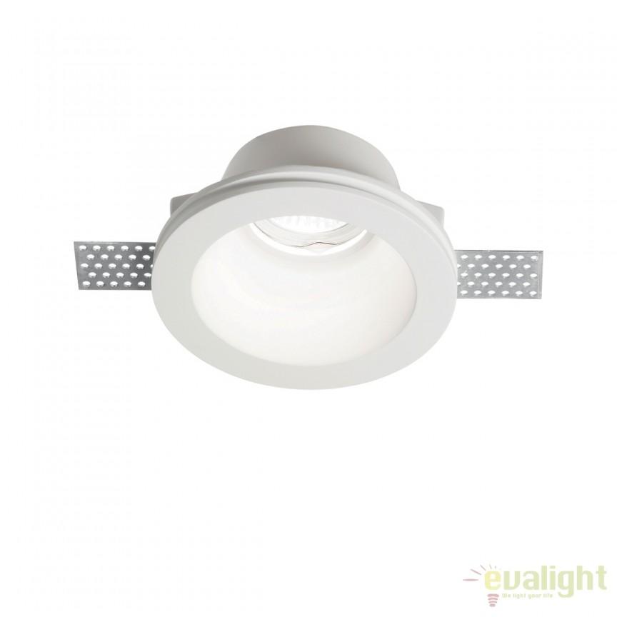 Spot incastrabil din gips alb, SAMBA FI1 ROUND 139012, Spoturi incastrate, aplicate - tavan / perete, Corpuri de iluminat, lustre, aplice, veioze, lampadare, plafoniere. Mobilier si decoratiuni, oglinzi, scaune, fotolii. Oferte speciale iluminat interior si exterior. Livram in toata tara.  a