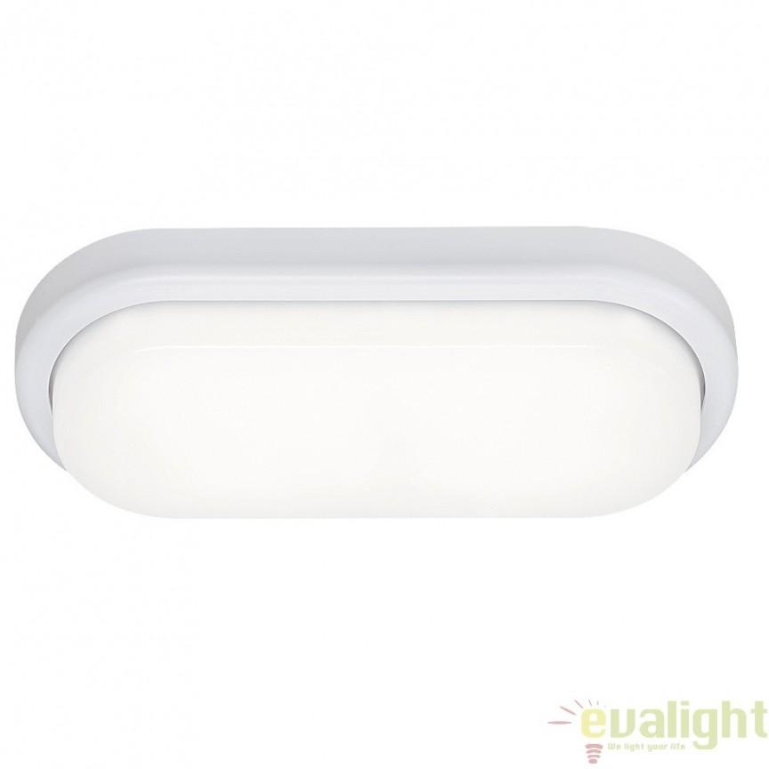 Aplica de perete, Plafoniera LED cu protectie IP54, finisaj alb, Loki 2496 RX, Plafoniere LED, Spoturi LED, Corpuri de iluminat, lustre, aplice, veioze, lampadare, plafoniere. Mobilier si decoratiuni, oglinzi, scaune, fotolii. Oferte speciale iluminat interior si exterior. Livram in toata tara.  a