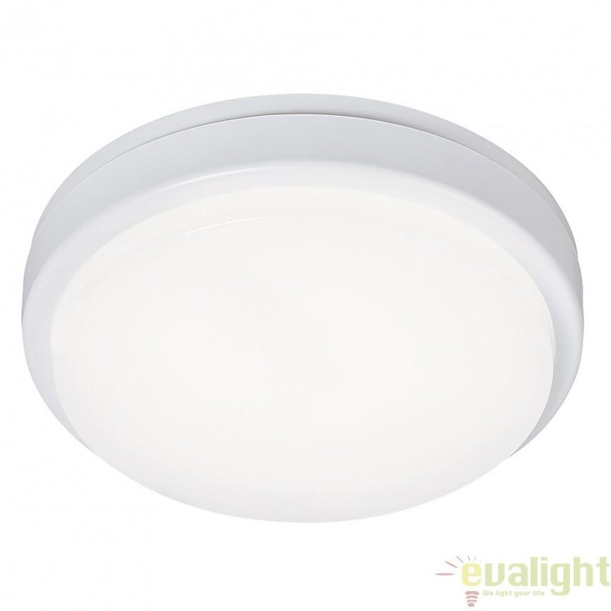 Aplica de perete, Plafoniera LED cu protectie IP54, finisaj alb, diametru 21cm, Loki 2497 RX, Plafoniere LED, Spoturi LED, Corpuri de iluminat, lustre, aplice, veioze, lampadare, plafoniere. Mobilier si decoratiuni, oglinzi, scaune, fotolii. Oferte speciale iluminat interior si exterior. Livram in toata tara.  a