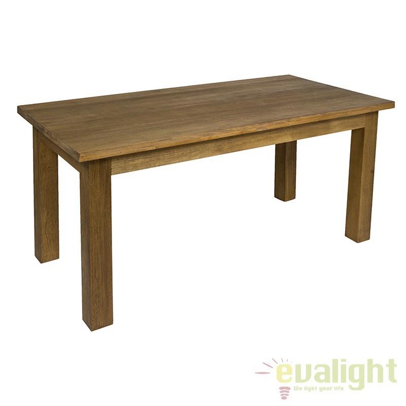 Masa design nordic din lemn de tec Feng 51943 SAP, Mese dining, Corpuri de iluminat, lustre, aplice, veioze, lampadare, plafoniere. Mobilier si decoratiuni, oglinzi, scaune, fotolii. Oferte speciale iluminat interior si exterior. Livram in toata tara.  a