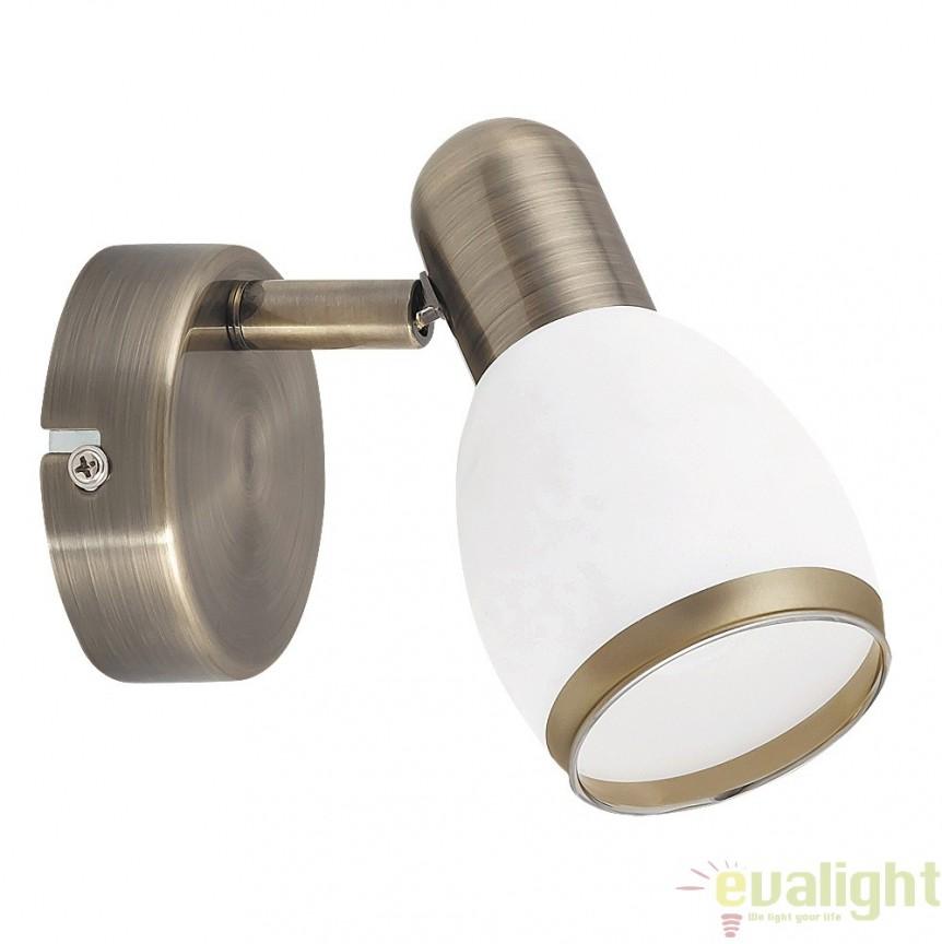 Aplica de perete design modern, finisaj bronz, Elite 5970 RX, Spoturi - iluminat - cu 1 spot, Corpuri de iluminat, lustre, aplice, veioze, lampadare, plafoniere. Mobilier si decoratiuni, oglinzi, scaune, fotolii. Oferte speciale iluminat interior si exterior. Livram in toata tara.  a