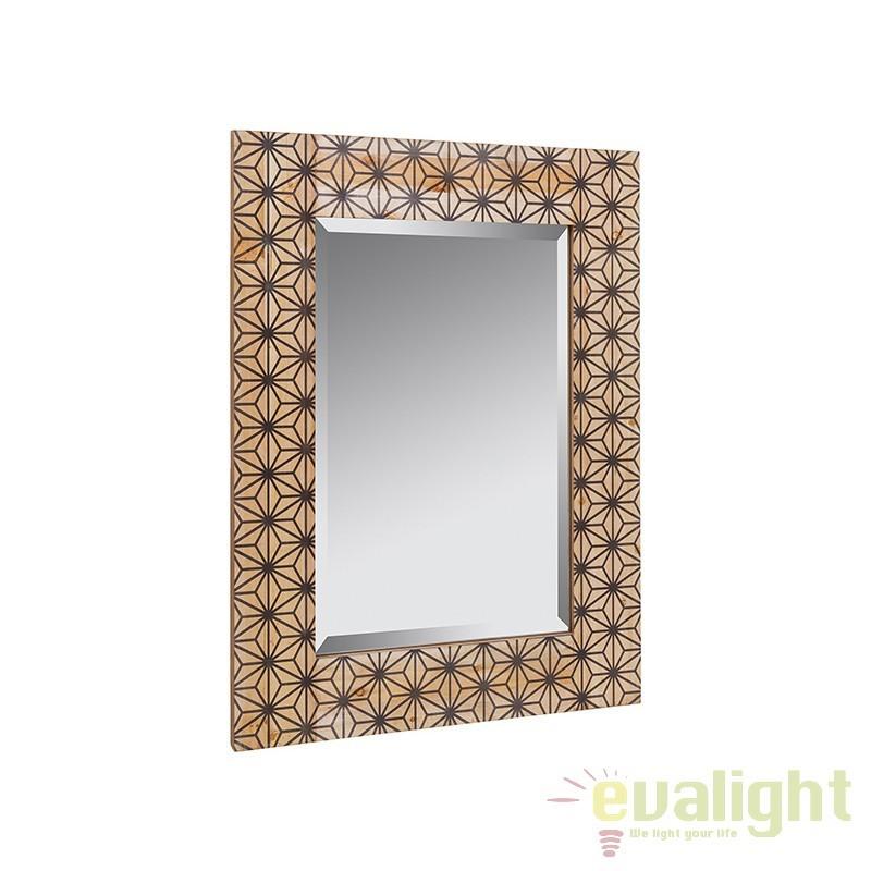 Oglinda decorativa din lemn de pin Indi 52103 SAP, Oglinzi decorative, Corpuri de iluminat, lustre, aplice, veioze, lampadare, plafoniere. Mobilier si decoratiuni, oglinzi, scaune, fotolii. Oferte speciale iluminat interior si exterior. Livram in toata tara.  a
