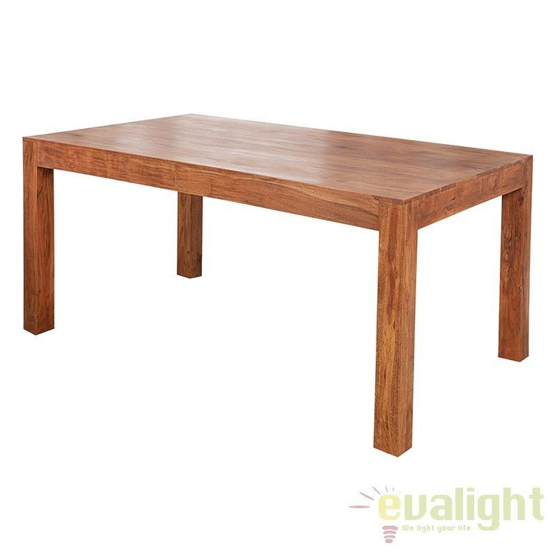 Masa dining din lemn de salcam Monsoon 120cm A-37584 VC, Mese dining, Corpuri de iluminat, lustre, aplice, veioze, lampadare, plafoniere. Mobilier si decoratiuni, oglinzi, scaune, fotolii. Oferte speciale iluminat interior si exterior. Livram in toata tara.  a