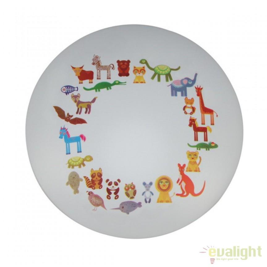 Plafoniera / Aplica copii cu iluminat LED Kinder 365015801 MW, Lustre pentru camera Copii, Corpuri de iluminat, lustre, aplice, veioze, lampadare, plafoniere. Mobilier si decoratiuni, oglinzi, scaune, fotolii. Oferte speciale iluminat interior si exterior. Livram in toata tara.  a