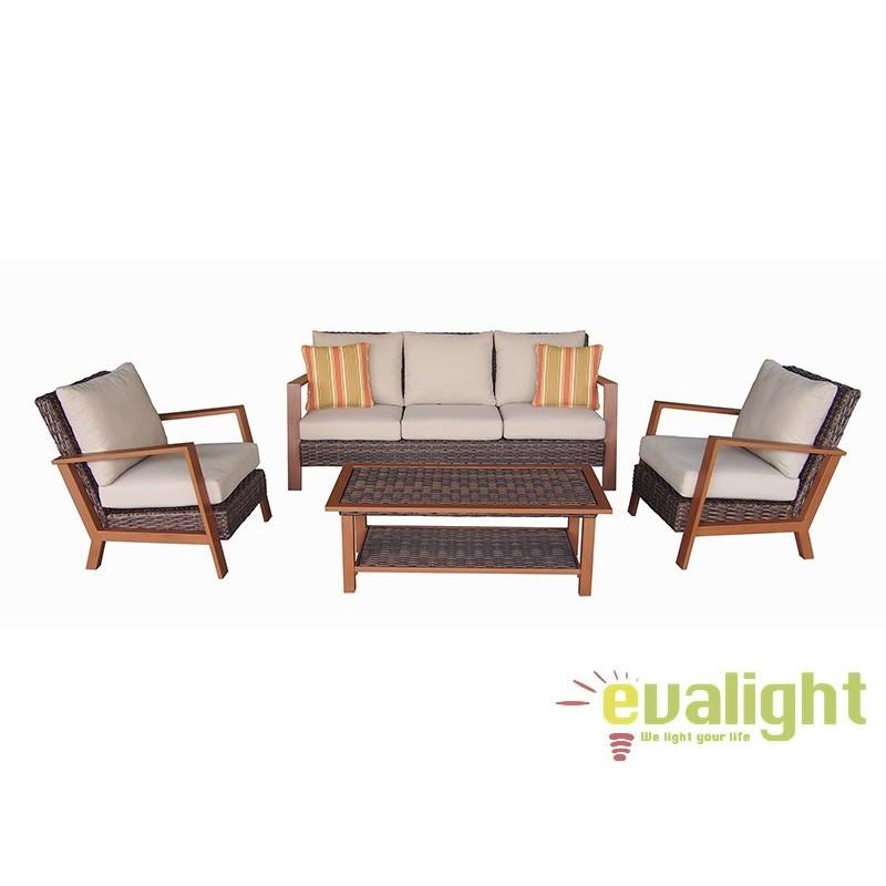 Set canapea, fotolii si masuta de exterior Bali 52148 SAP, Mobilier terasa si gradina, Corpuri de iluminat, lustre, aplice, veioze, lampadare, plafoniere. Mobilier si decoratiuni, oglinzi, scaune, fotolii. Oferte speciale iluminat interior si exterior. Livram in toata tara.  a