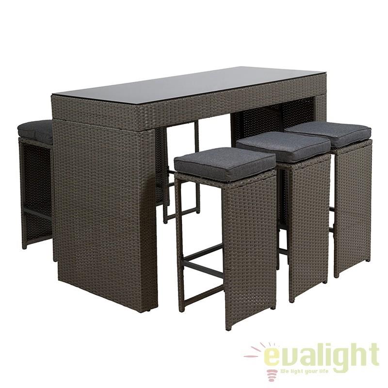 Set masa si scaune de exterior Balcony 52152 SAP, Mobilier terasa si gradina, Corpuri de iluminat, lustre, aplice, veioze, lampadare, plafoniere. Mobilier si decoratiuni, oglinzi, scaune, fotolii. Oferte speciale iluminat interior si exterior. Livram in toata tara.  a