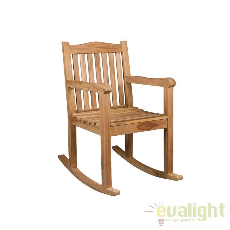 Scaun balansoar din lemn de tec Evan 31941 SAP, Mobilier terasa si gradina, Corpuri de iluminat, lustre, aplice, veioze, lampadare, plafoniere. Mobilier si decoratiuni, oglinzi, scaune, fotolii. Oferte speciale iluminat interior si exterior. Livram in toata tara.  a