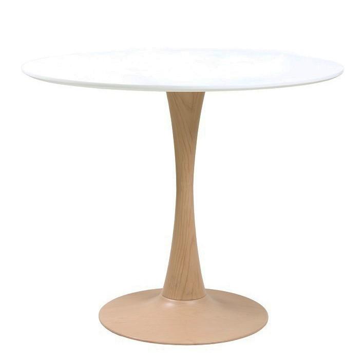 Masa rotunda eleganta TUL-90-WLBL 90cm 164.MTU90WLBL SDM, Mese dining, Corpuri de iluminat, lustre, aplice, veioze, lampadare, plafoniere. Mobilier si decoratiuni, oglinzi, scaune, fotolii. Oferte speciale iluminat interior si exterior. Livram in toata tara.  a