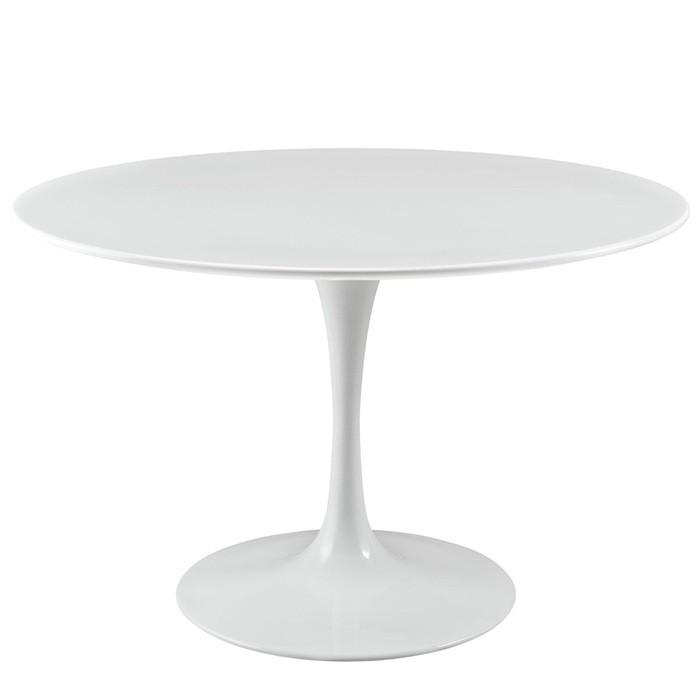 Masa rotunda eleganta TUL-LB120 120cm alb 123.MTULLB120 SDM, Mese dining, Corpuri de iluminat, lustre, aplice, veioze, lampadare, plafoniere. Mobilier si decoratiuni, oglinzi, scaune, fotolii. Oferte speciale iluminat interior si exterior. Livram in toata tara.  a