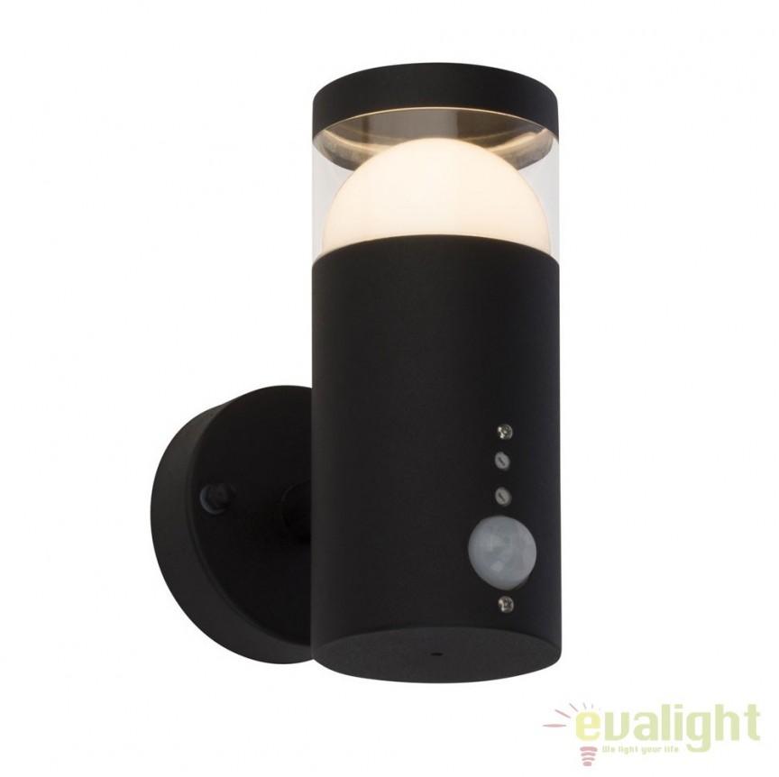 Aplica LED exterior cu senzor de miscare IP44 Shiso G44597/63 BL, Iluminat cu senzor de miscare, Corpuri de iluminat, lustre, aplice, veioze, lampadare, plafoniere. Mobilier si decoratiuni, oglinzi, scaune, fotolii. Oferte speciale iluminat interior si exterior. Livram in toata tara.  a